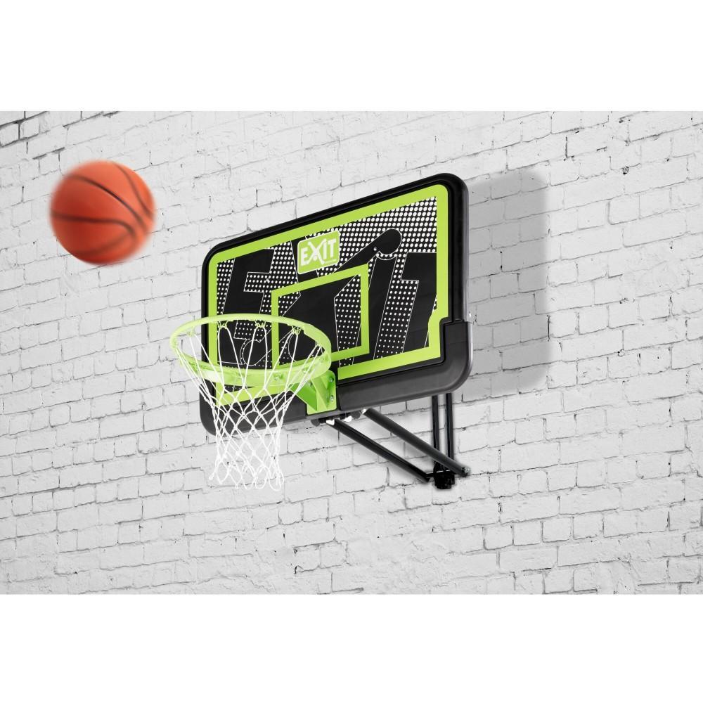 Регулюємий баскетбольний щит Exit Galaxy Black з кільцем і сіткою