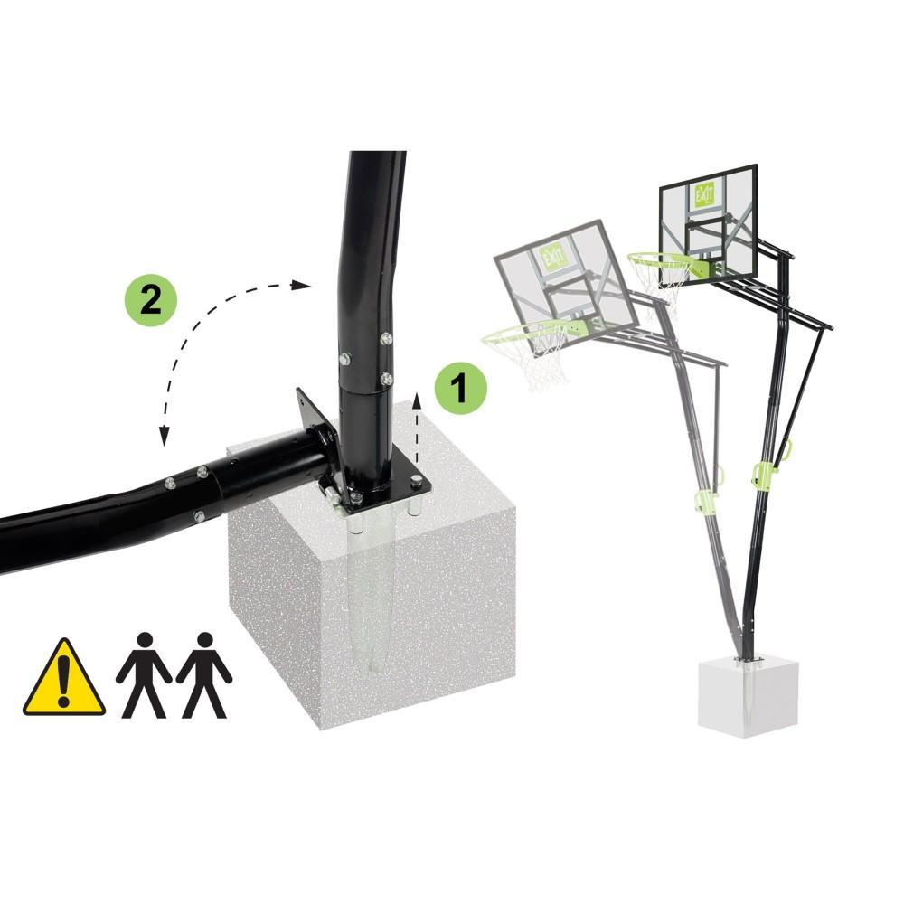 Стаціонарна баскетбольна стійка Exit Galaxy з кільцем з амортизацією