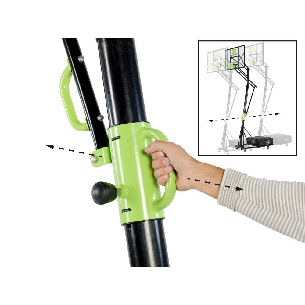 Мобільна баскетбольна стійка Exit Galaxy з кільцем з амортизацією