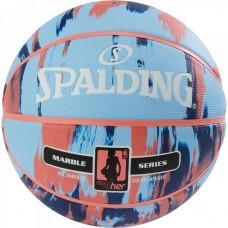 Баскетбольний м'яч Spalding NBA Marble 4Her Outdoor Sky Blue/Royal/Red Розмір 6