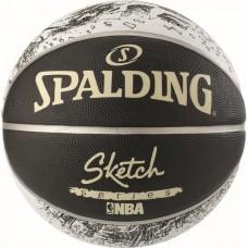 Баскетбольний м'яч Spalding NBA Sketch Swoosh Outdoor Розмір 7