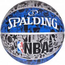 Баскетбольний м'яч Spalding NBA Graffiti Outdoor Grey/Blue Розмір 7