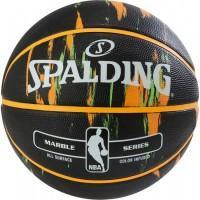 Баскетбольний м'яч Spalding NBA Marble Outdoor Black/Orange/Green Розмір 7