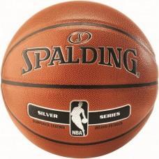 Баскетбольний м'яч Spalding NBA Silver Indoor/Outdoor Розмір 7