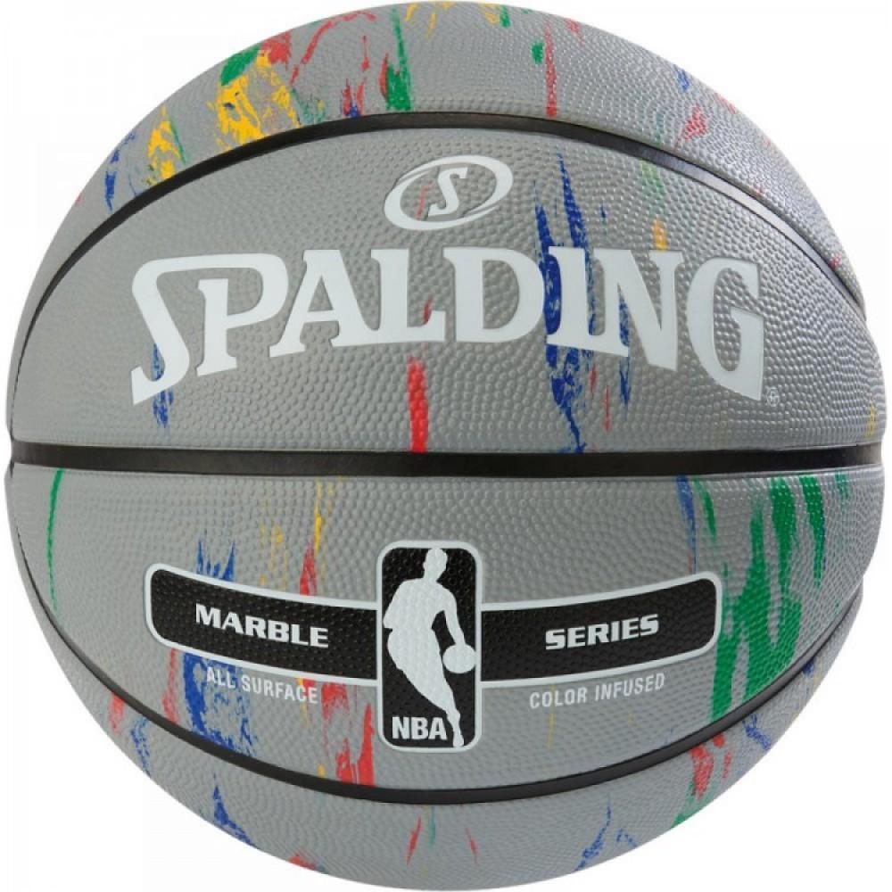 Баскетбольний м'яч Spalding NBA Marble Outdoor Grey/Multi-Color Розмір 7