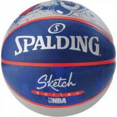 Баскетбольний м'яч Spalding NBA Sketch Robot Outdoor Розмір 7