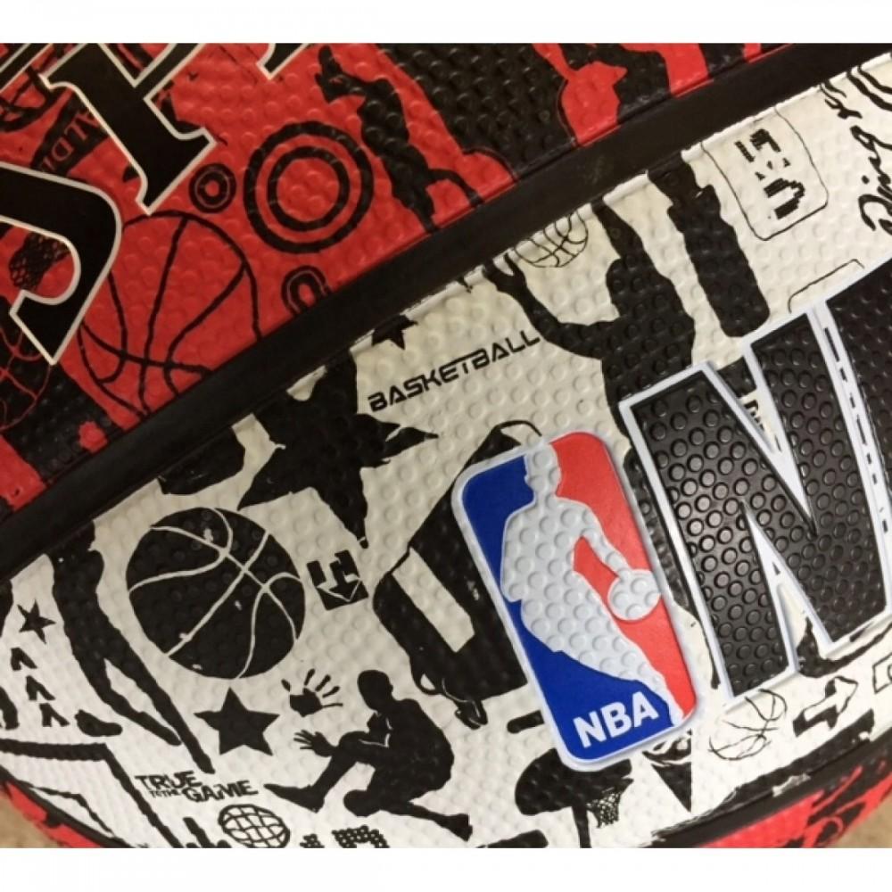 Баскетбольний м'яч Spalding NBA Graffiti Outdoor White/Red Розмір 7