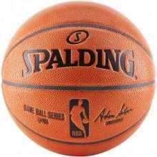 Баскетбольний м'яч Spalding NBA Game Ball Replica Indoor/Outdoor Розмір 7