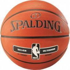 Баскетбольний м'яч Spalding NBA Silver Outdoor Розмір 5