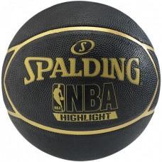 Баскетбольний м'яч Spalding NBA Highlight Black/Gold Розмір 7