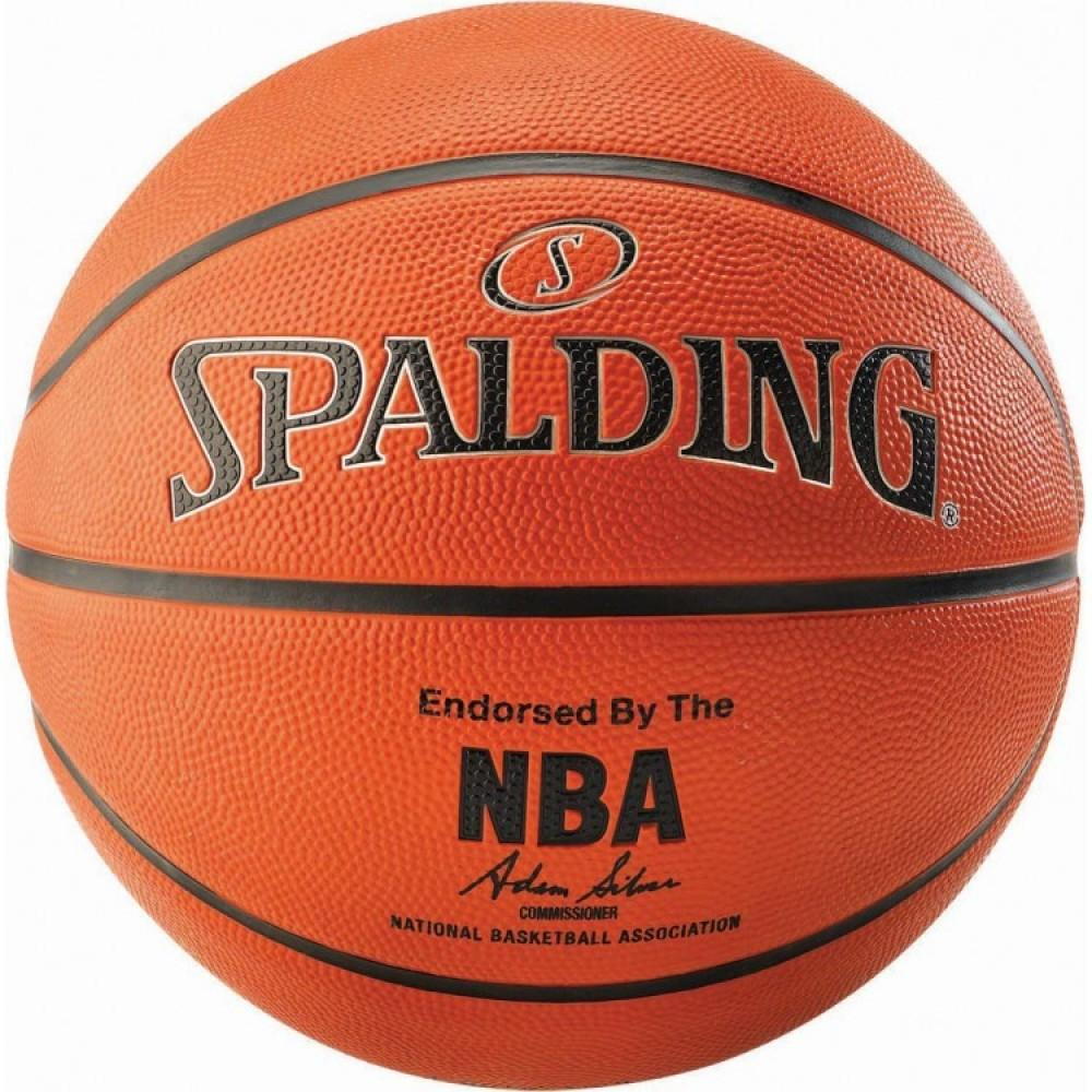 Баскетбольний м'яч Spalding NBA Silver Outdoor Розмір 6