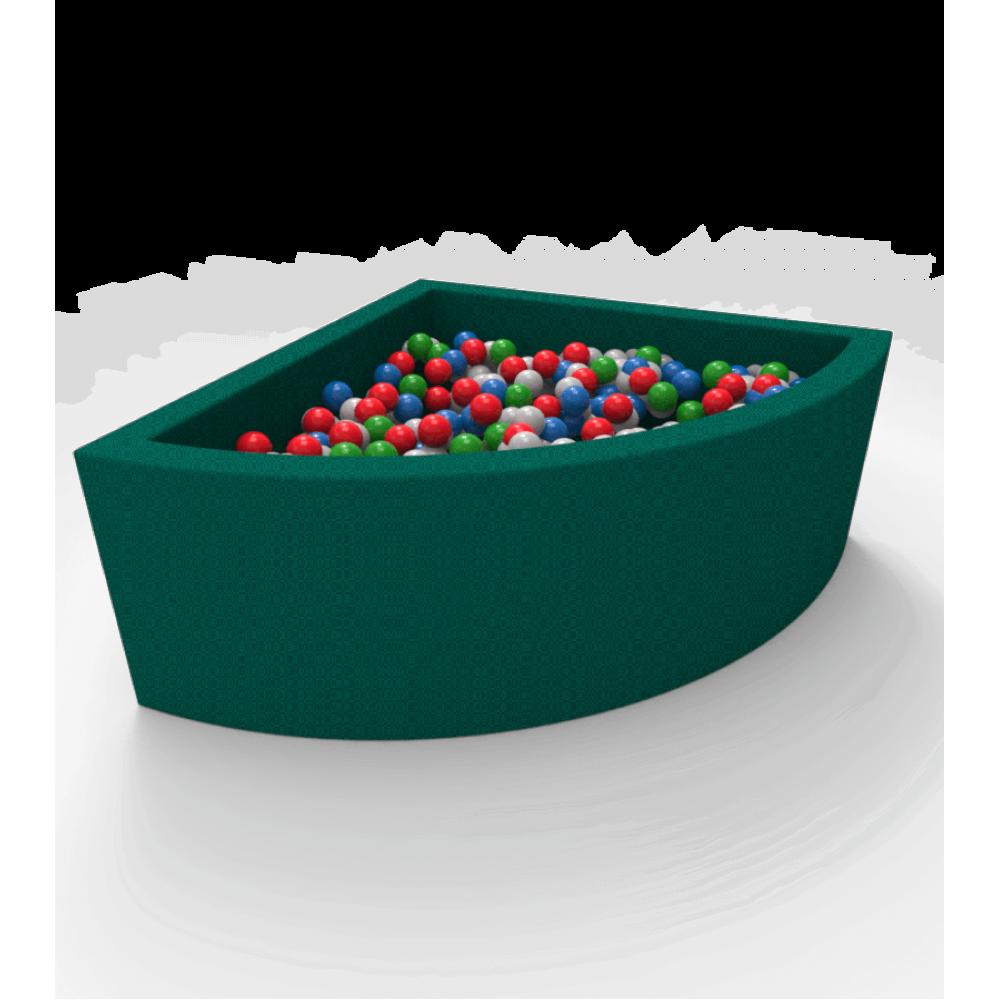 Кутовий сухий басейн з кульками Kidigo Lucky Green