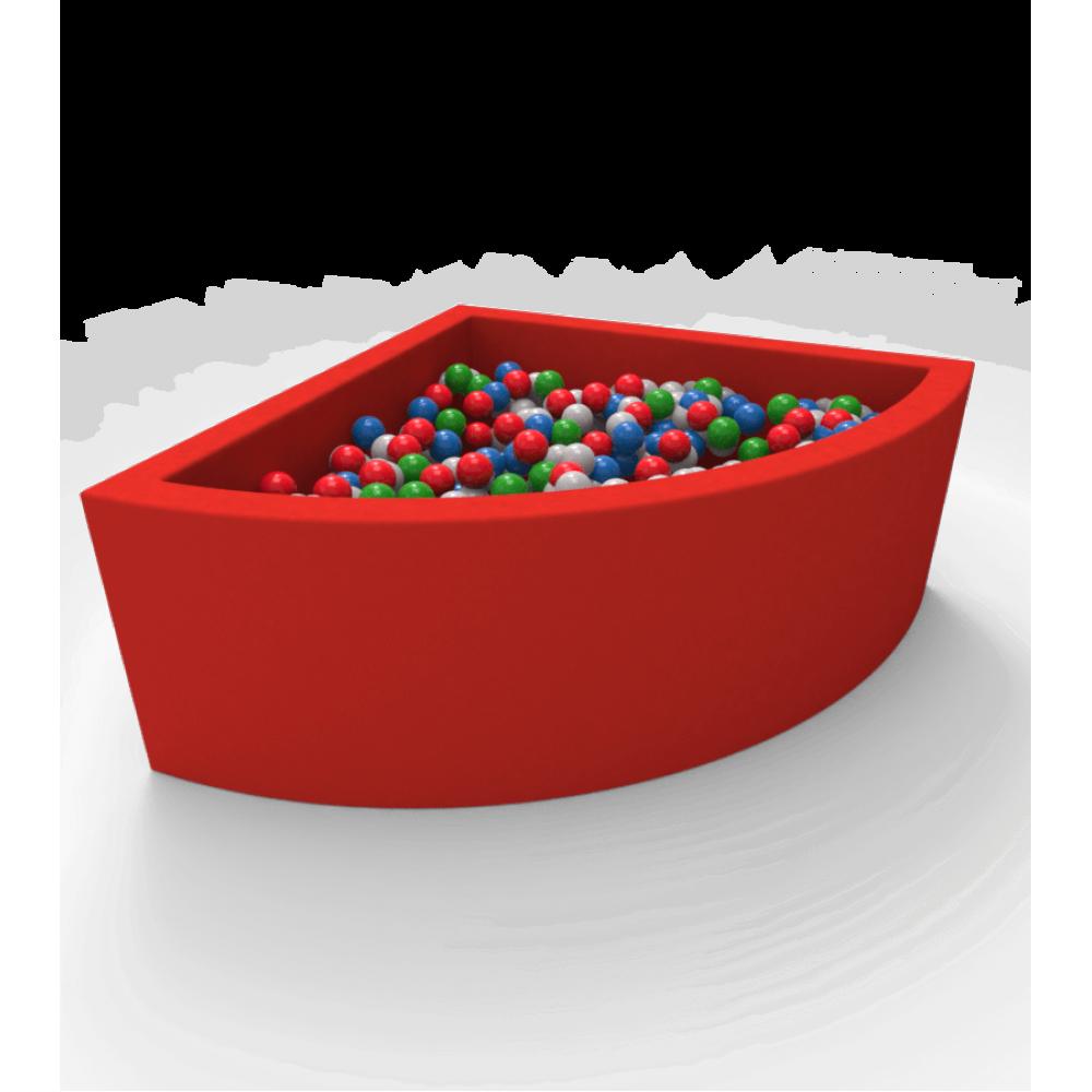Кутовий сухий басейн з кульками Kidigo Lucky Red