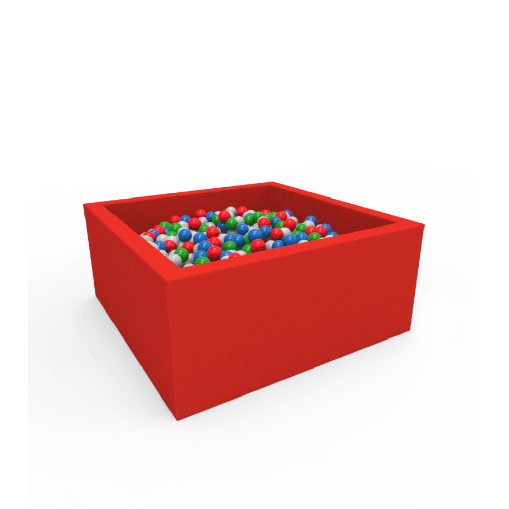 Квадратний сухий басейн з кульками Kidigo Lucky Red