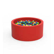 Круглий сухий басейн з кульками Kidigo Lucky Red