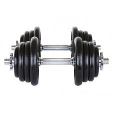 Металеві гантелі Hop-Sport 2 х 20 кг
