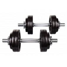Металеві гантелі Hop-Sport Strong 2 х 15 кг