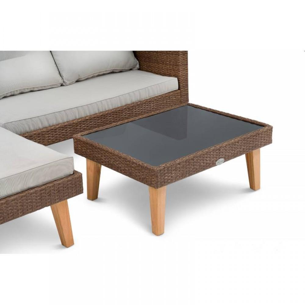 Набір садових меблів зі штучного ротангу DiVolio Imola Brown