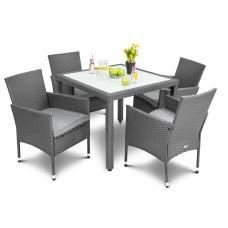Садові меблі DiVolio Verona 4+1 Grey