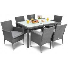 Садові меблі DiVolio Verona 6+1 Grey