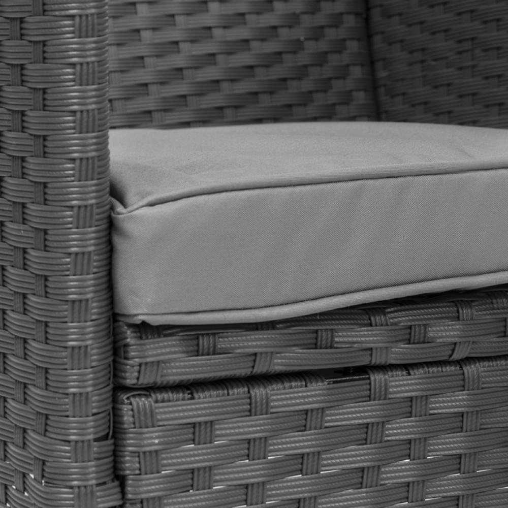 Набір садових меблів DiVolio Verona 6+1 Grey