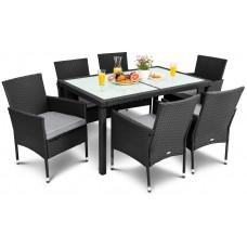 Садові меблі DiVolio Verona 6+1 Black