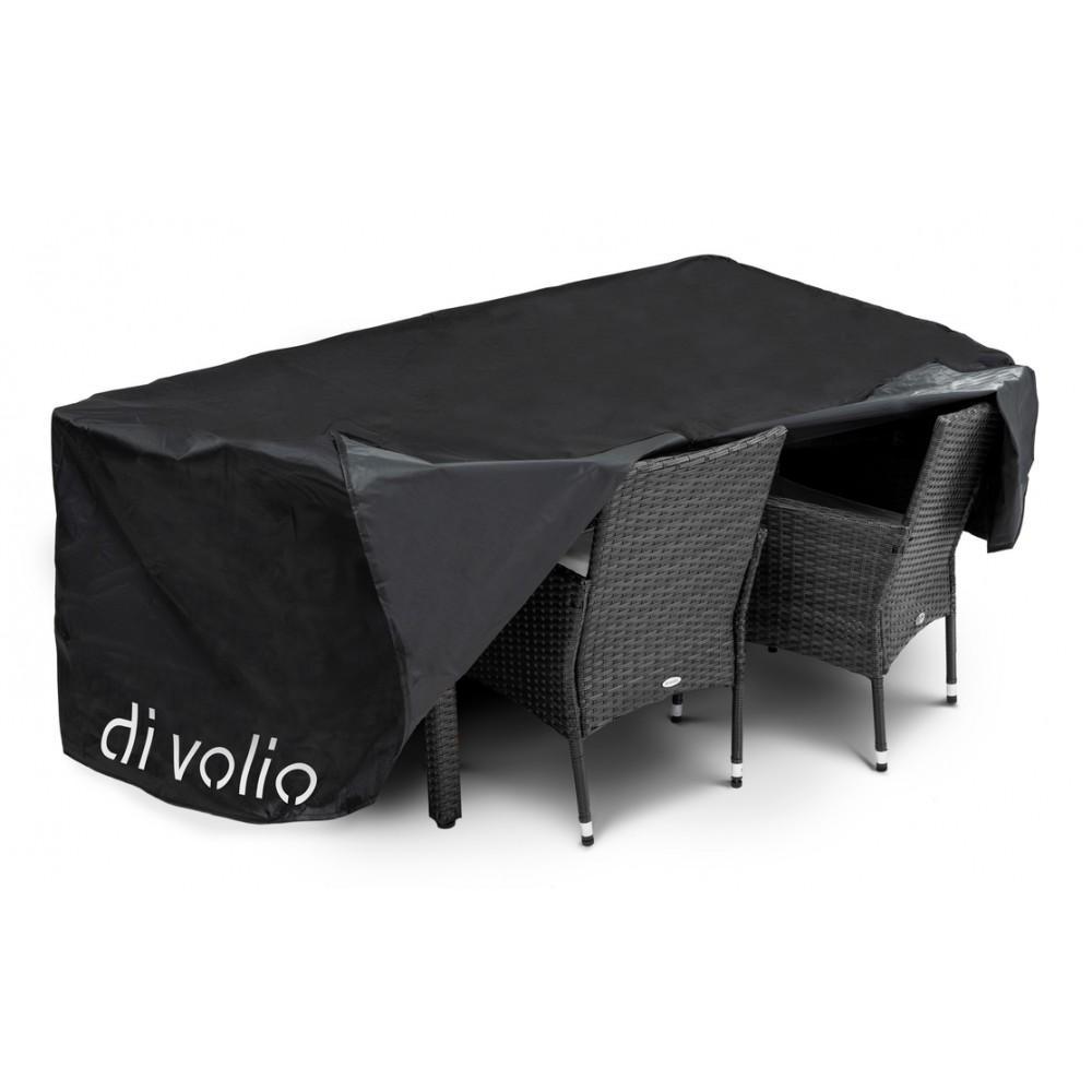Набір садових меблів DiVolio Verona 6+1 Black