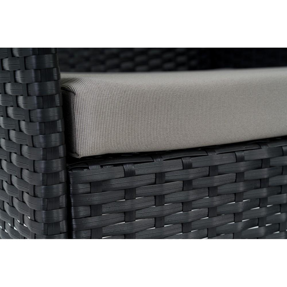 набір садових меблів зі штучного ротангу DiVolio Siena Black