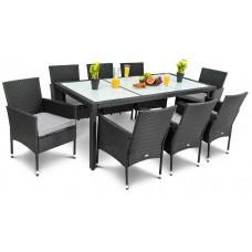 Садові меблі DiVolio Verona 8+1 Black