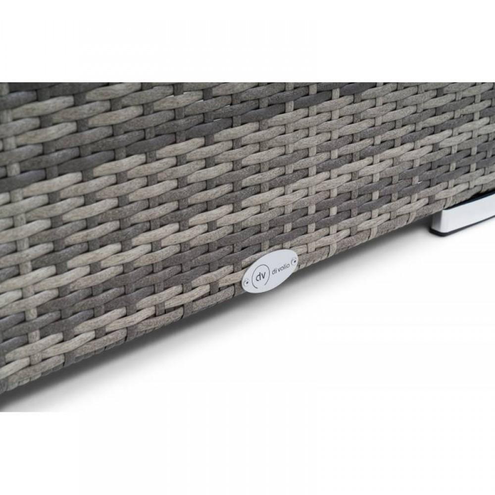 Набір садових меблів зі штучного ротангу DiVolio Prato Light Grey