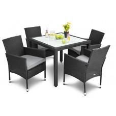 Садові меблі DiVolio Verona 4+1 Black