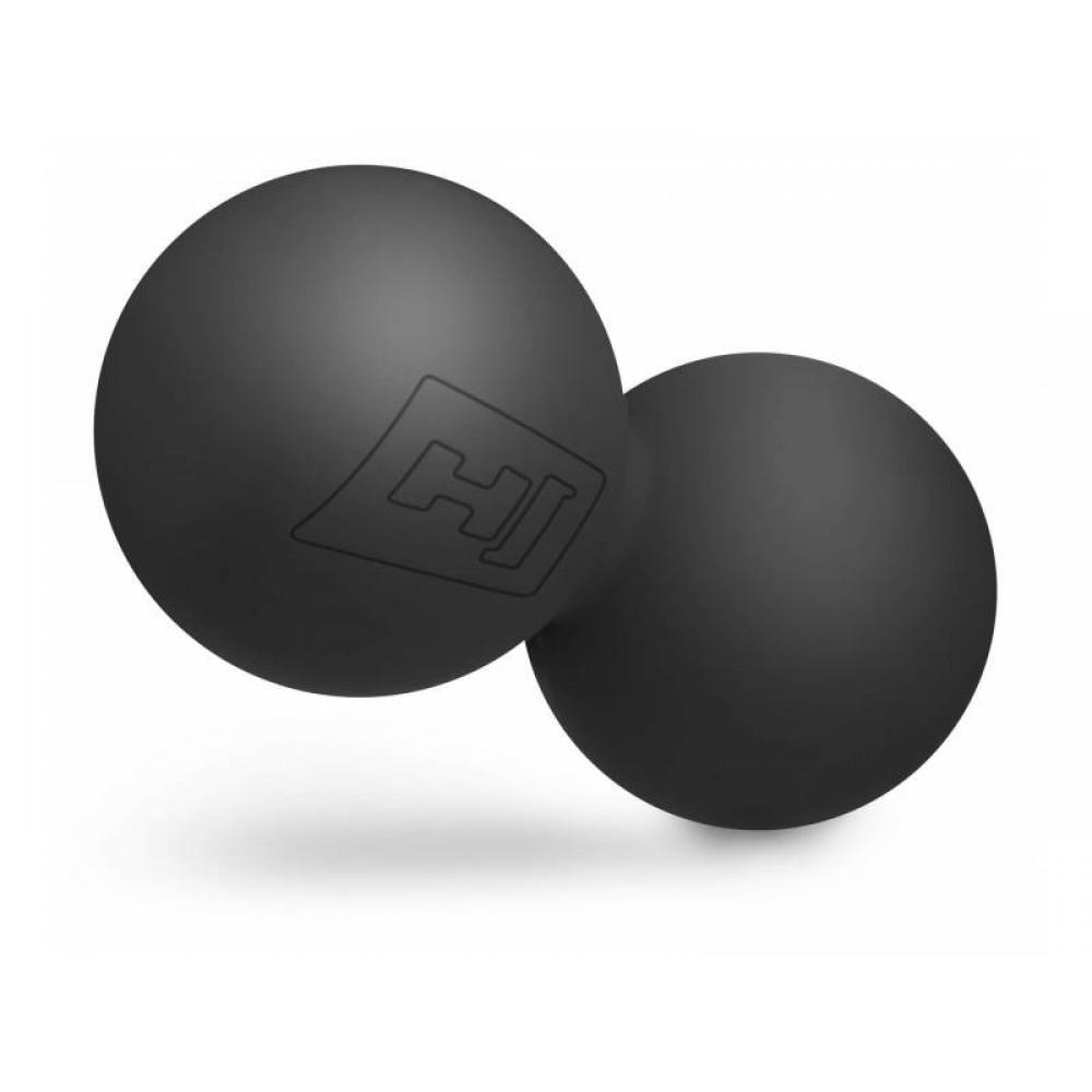 Силіконовий подвійний масажний м'яч 63 мм Hop-Sport S063DMB