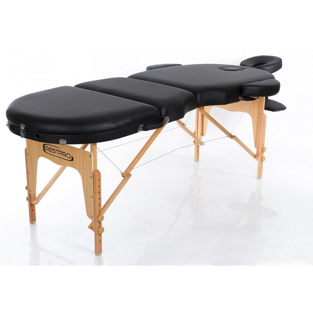 Масажний стіл Restpro Vip Oval 3 чорний