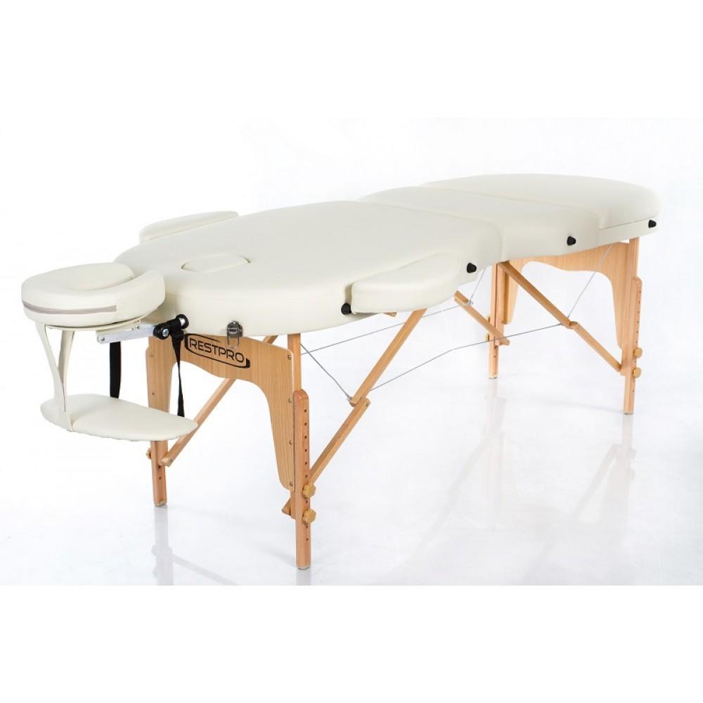Масажний стіл Restpro Vip Oval 3 бежевий