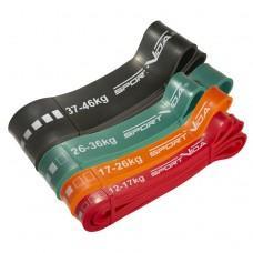 Набір з 4 еластичних стрічок для фітнесу SportVida, 12-46 кг