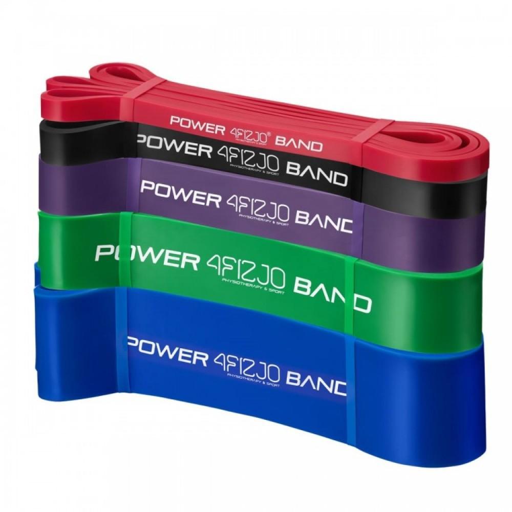 Набір з 5 еластичних стрічок для фітнесу 4FIZJO, 6-46 кг