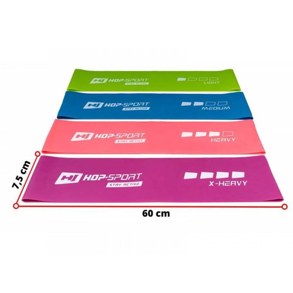 Набір еластичних стрічок Hop-Sport L675RL 600 x 75 мм
