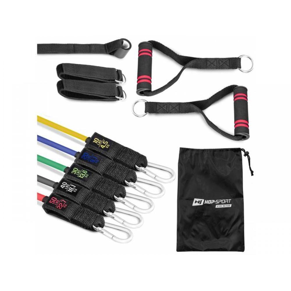 Набір еластичних стрічок з еспандерами Hop-Sport R050RT