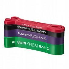 Набір з 4 еластичних стрічок для фітнесу 4FIZJO Power Band, 6-36 кг
