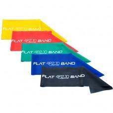 Набір з 5 еластичних стрічок для фітнесу 4FIZJO Flat Band, 200 см