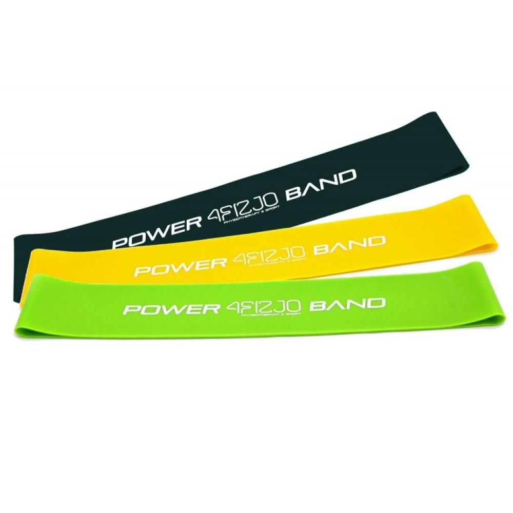 Набір з 3 еластичних стрічок для фітнесу 4FIZJO Mini Power Band, 5-20 кг