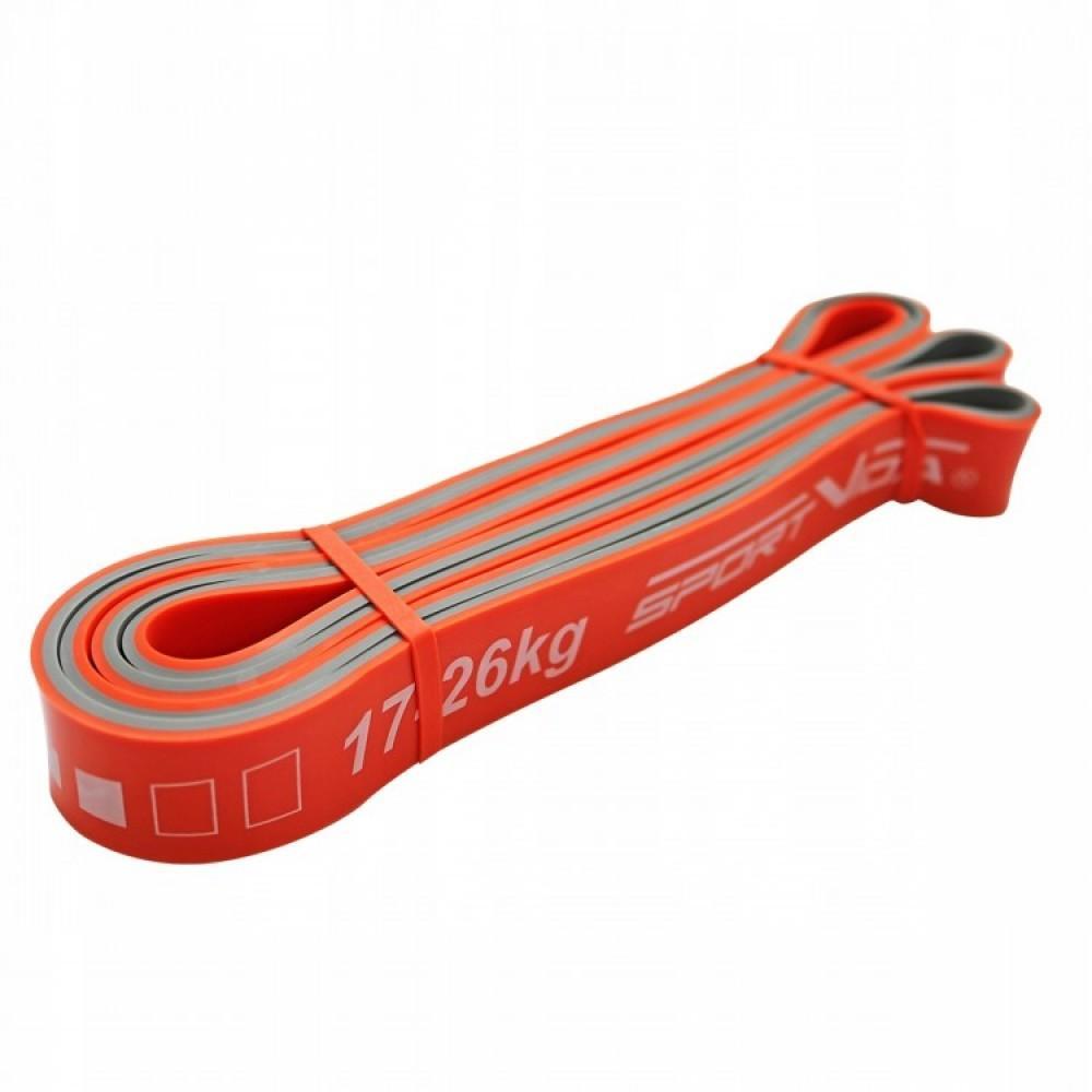 Фітнес стрічка SportVida 208 x 2.8 x 0.45 см, 17-26 кг
