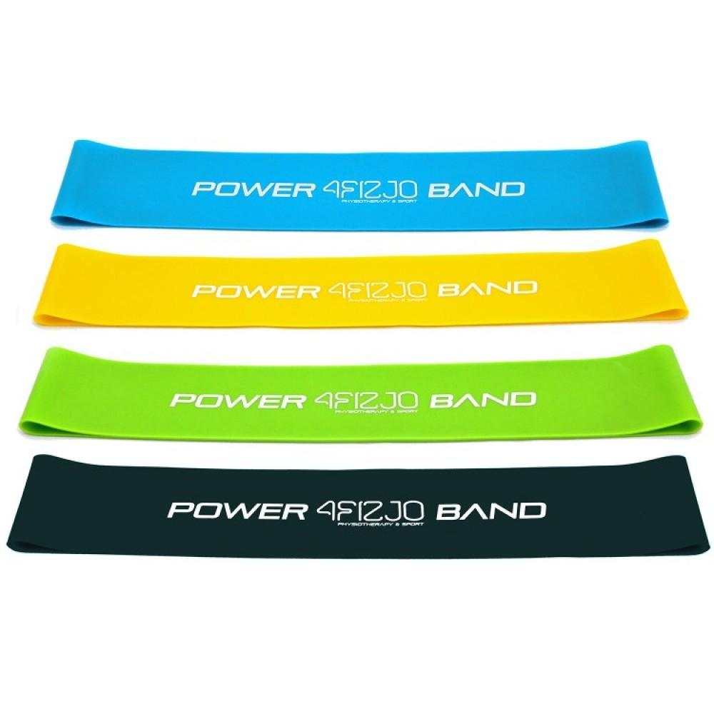 Набір з 4 еластичних стрічок для фітнесу 4FIZJO Mini Power Band, 1-20 кг