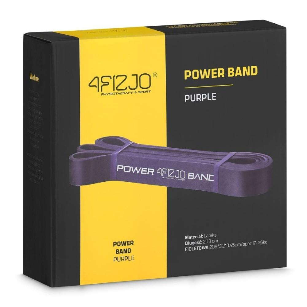 Еластична стрічка для фітнесу 4FIZJO 208 х 3.2 х 0.45 см, 17-26 кг