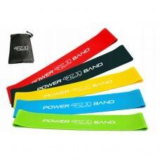Набір з 5 еластичних стрічок для фітнесу 4FIZJO Mini Power Band, 1-20 кг