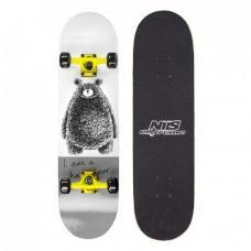 Скейтборд Nils Extreme Gray Bear