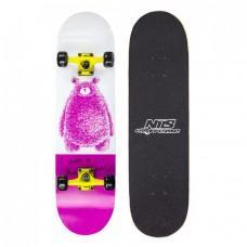 Скейтборд Nils Extreme Pink Bear