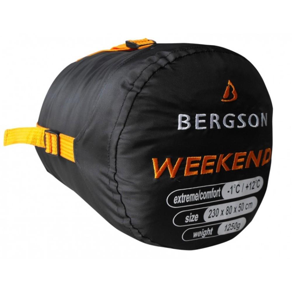 Спальний мішок Bergson Weekend Right 230 x 50 - 80 см
