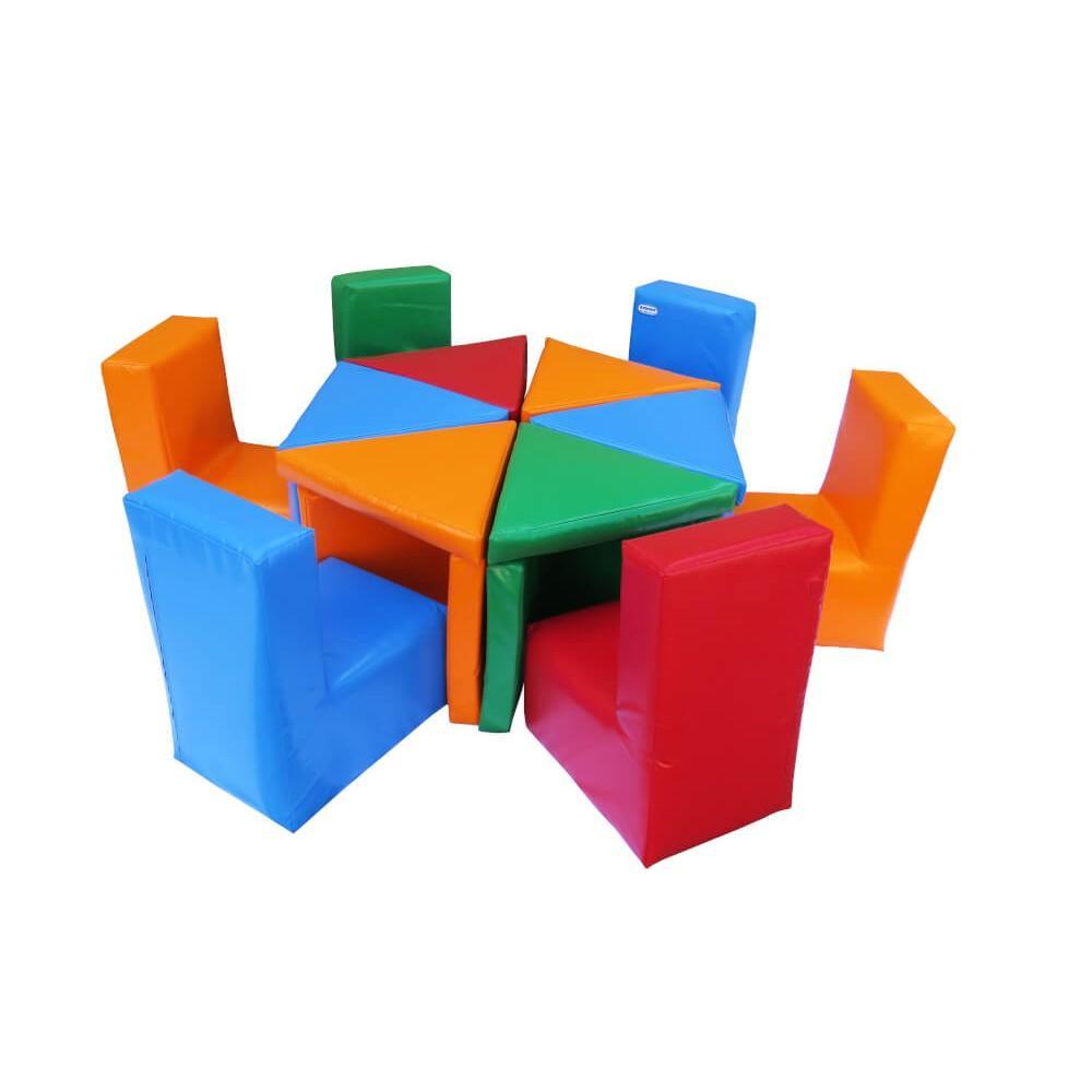 """Комплект м'яких ігрових дитячих меблів """"Цвітик"""" Kidigo"""