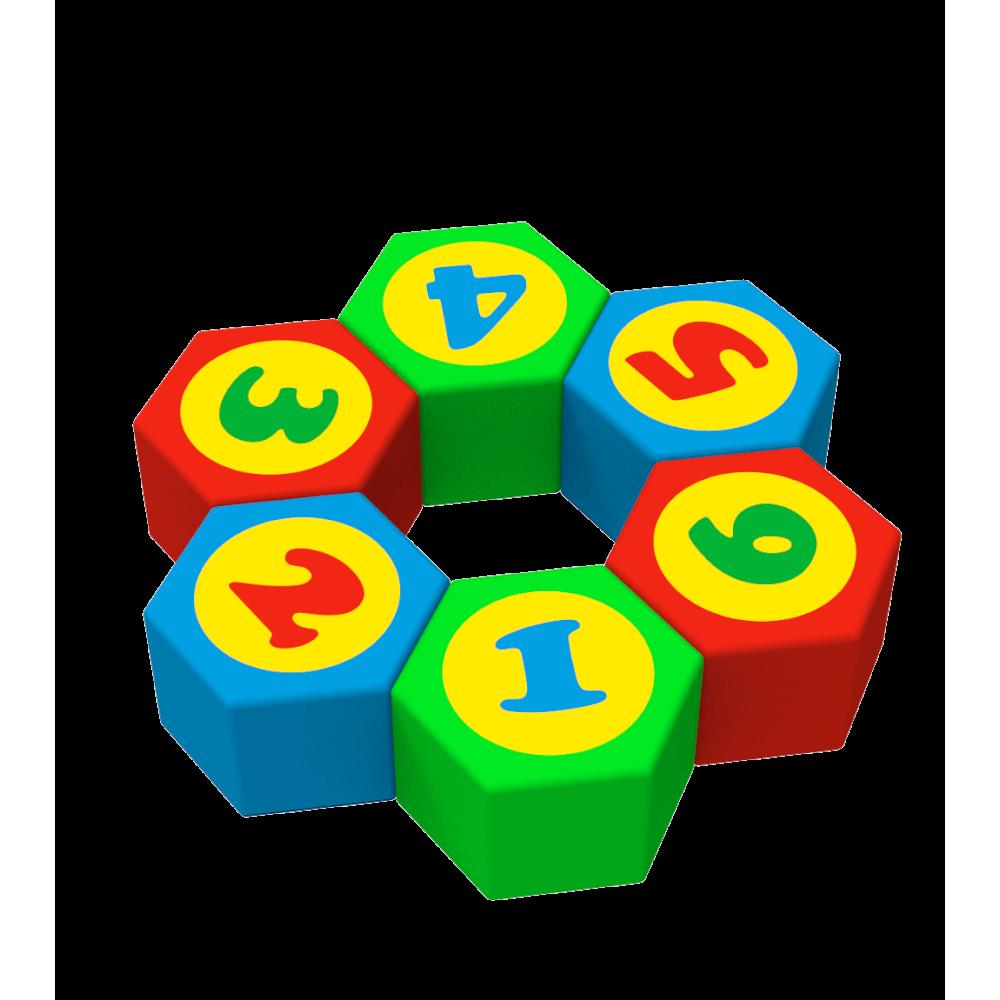 """Комплект м'яких ігрових дитячих пуфів """"Цифри"""" Kidigo"""